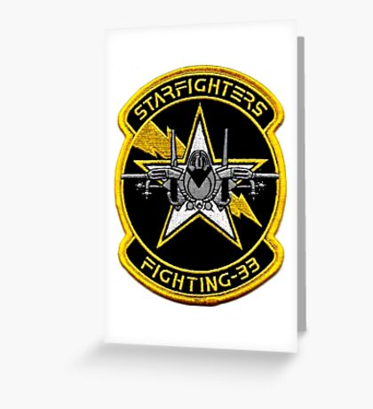 VFA-33 Starfighters Patch Greeting Card