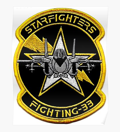 VFA-33 Starfighters Patch Poster