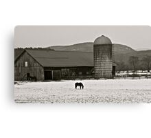 Vermont Snow Scene Canvas Print