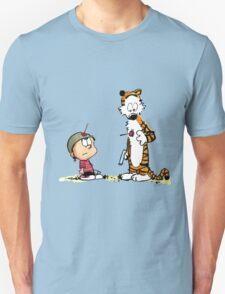 Calvin & Hobbes (dart war games edition) T-Shirt