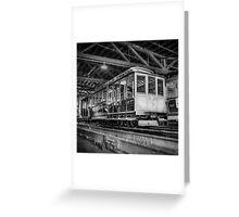 Vintage Streetcar Trolley 2117 Greeting Card