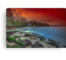 Binstead Beach sunset Canvas Print