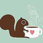 Squirrel Loves Coffee by Jenn Inashvili