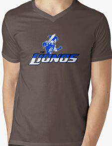 Detroit Lionos Mens V-Neck T-Shirt
