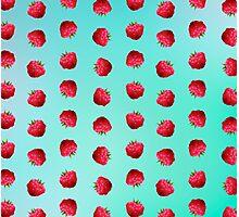 Raspberry Pattern Photographic Print