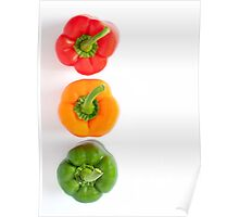 traffic light peppers Poster