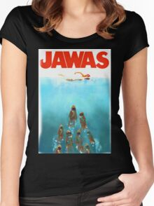 funny star wars jawas tshirt Women's Fitted Scoop T-Shirt