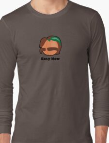 Fuzzy Man Peach Long Sleeve T-Shirt