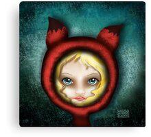 Whimsical Fox Girl Canvas Print