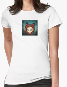 Whimsical Fox Girl Womens Fitted T-Shirt