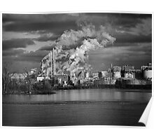 Industry In Black and White Poster