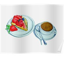 Berry Tart and Espresso Poster