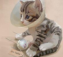 For Laika, satellite kitten by lobsterphone