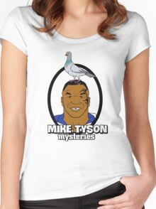 Mike Tyson Mysteries Graphic Women's Fitted Scoop T-Shirt