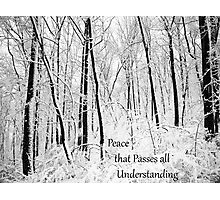 Peace That Passes All Understanding Photographic Print