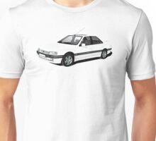 Peugeot 405 Mi 16 illustration, white Unisex T-Shirt