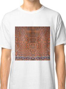 Leather Skin Texture Chain Metalic Art Classic T-Shirt