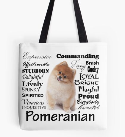 Pomeranian Traits and Personality Tote Bag