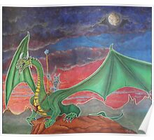 Dragon with rider Poster