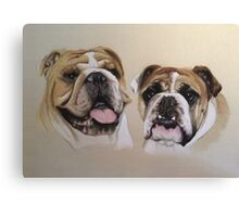 Daisy & George - British Bulldogs Canvas Print