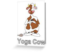 Yoga Cow Greeting Card