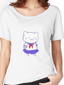 School Girl Kitty Women's Relaxed Fit T-Shirt