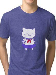 School Girl Kitty Tri-blend T-Shirt