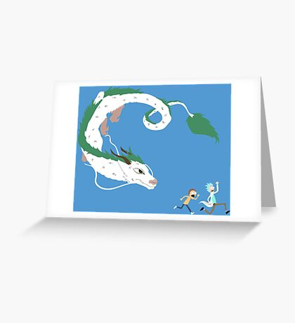 Haku, Rick, and Morty Greeting Card