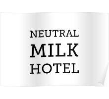 Neutral Milk Hotel - Black Poster