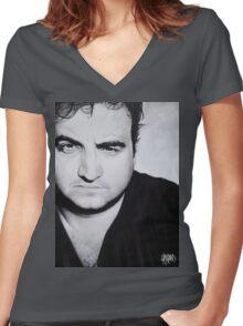 John Belushi Women's Fitted V-Neck T-Shirt
