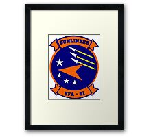 VFA-81 Sunliners Patch Framed Print
