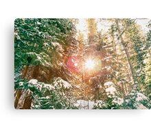 Colorado Rocky Mountain Snow and Sunshine Metal Print
