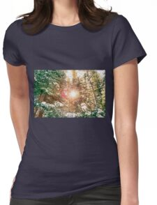 Colorado Rocky Mountain Snow and Sunshine Womens Fitted T-Shirt