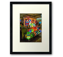 Colorful and Unique Lamps For Sale Framed Print