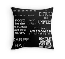Bitch, you are fabulous Throw Pillow