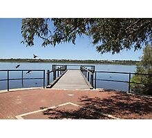 Local lake and semi Jetty Joondalup Photographic Print
