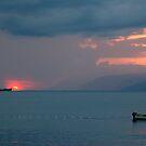 Ship hits sun by Arie Koene