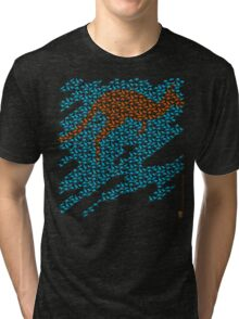 Kangaroo mosaic Tri-blend T-Shirt