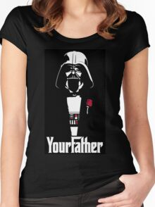star wars your father  Women's Fitted Scoop T-Shirt