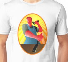 Carpenter Striking Hammer Chisel Retro Unisex T-Shirt