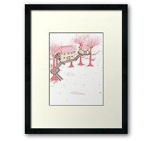 Snowy Treehouse2 Framed Print