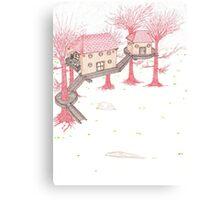 Snowy Treehouse2 Canvas Print