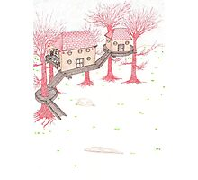 Snowy Treehouse2 Photographic Print