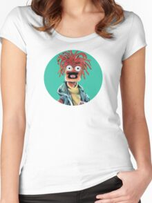 Pepe The King Prawn Fan Art  Women's Fitted Scoop T-Shirt