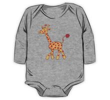 Red Heart Spotted Giraffe One Piece - Long Sleeve
