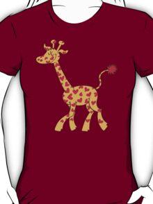 Red Heart Spotted Giraffe T-Shirt
