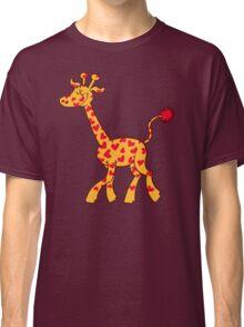 Red Heart Spotted Giraffe Classic T-Shirt