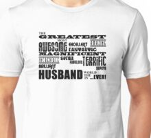 Greatest Husband Word Cloud Unisex T-Shirt