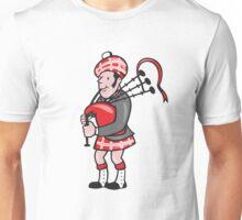 Scotsman Bagpiper Bagpipes Cartoon Unisex T-Shirt