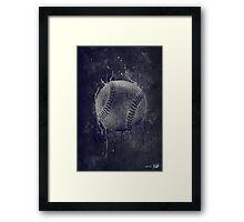 Dark Baseball Framed Print